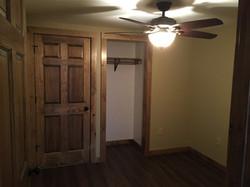 Basement bedroom, Alder doors and trim