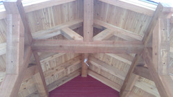 Beautiful entryway roof