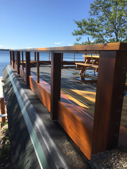 Redo Rooftop deck to maximize views, Fence Lake