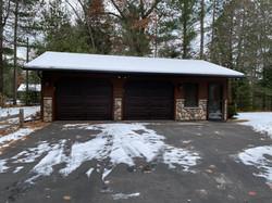 Updated garage siding