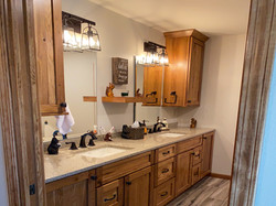 Remodeled bathroom, beautiful cabinets