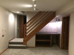 Mini bar space under steps