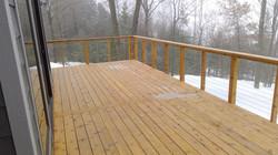 Large deck with waterproofing und