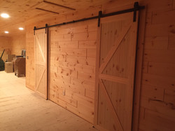 Barn doors to maximize space