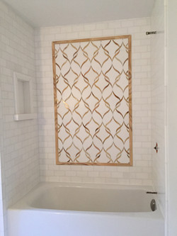 Beautiful tile mosaic shower