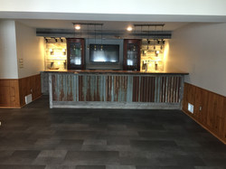 Walkout basement bar