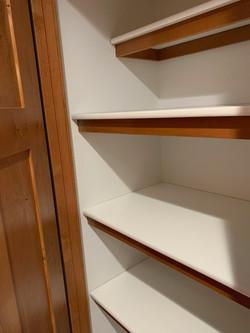 Custom pantry shelving
