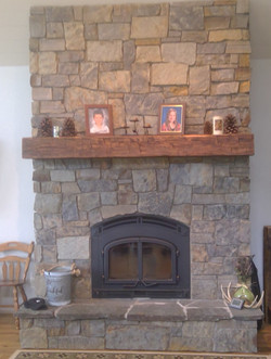 Stonework on Fireplace, attention to detail