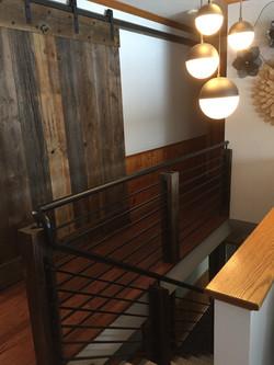 Custom rail and barn wood door