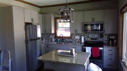 Modern kitchen with tile backsplash