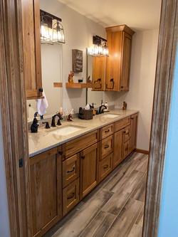 After renovation, updated cabinets, counter, sink etc