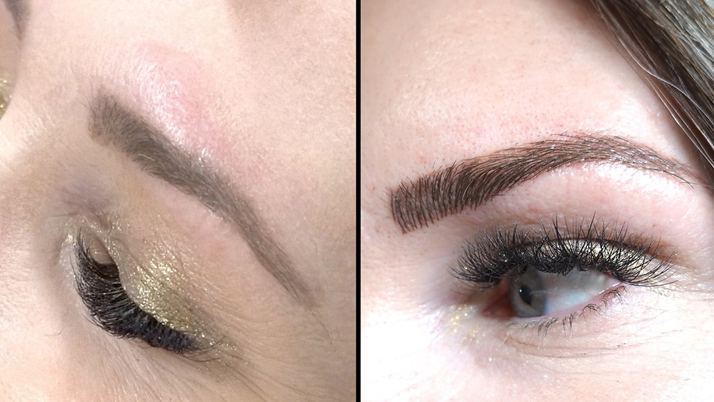 Microbladed Brows: Before and After Natural Kaos