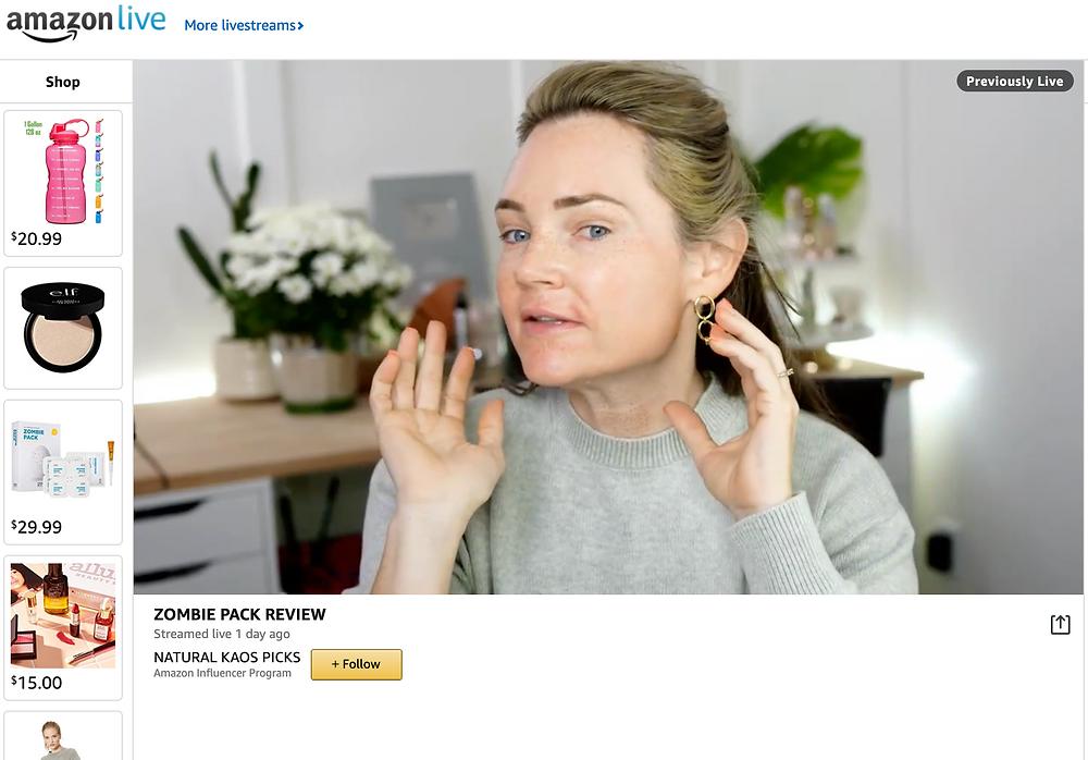 Natural Kaos Amazon Live Influencer