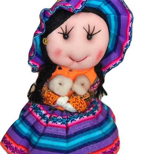 Peruvian Fabric Doll w/ Potatoes