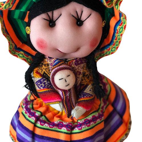 Peruvian Fabric Doll w/ Baby