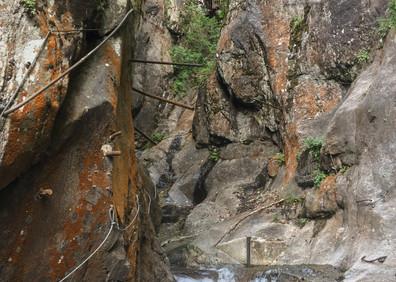 Ancien tronçon du parcours de visite des Gorges du Triège