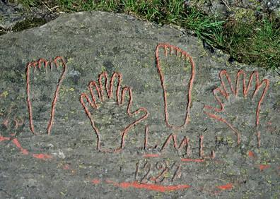 Empreintes de Luis Lugon-Moulin dit Louis des six doigts