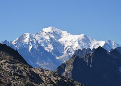 Le Mont-Blanc vu du col de Barberine