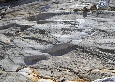 Rides de vagues du Trias sur les roches du col de Barberine