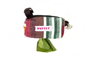 Only Paw Prints-PoopBrown, beige, and green dog poop bag holder with no-dangle strap-Bag-Holder-in-Badla