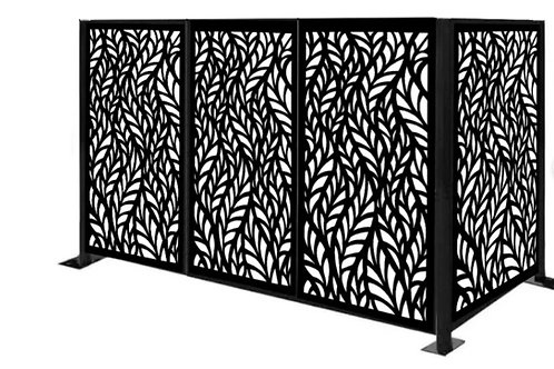 HVAC & Pool Equipment Wall Fencing.  Adds Beauty and Security