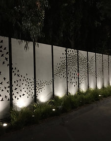 Powder Coated Privacy Panels, Outdoor Privacy, Metal Wall Art, Custom Metal Art