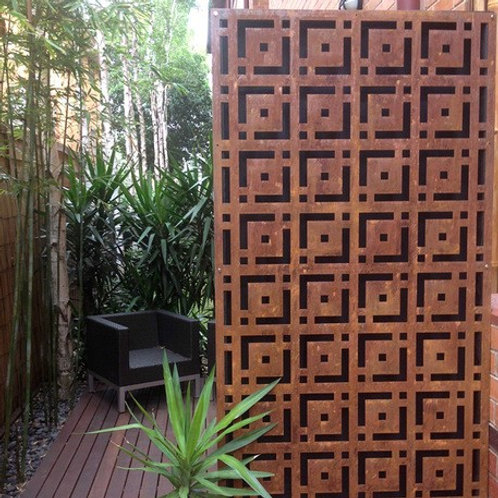 Corten Privacy Panels, Outdoor Privacy, Metal Wall Art, Custom Metal Art