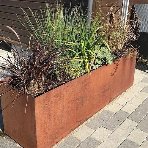Planter Boxes, Corten Weathering Steel or Powder Coated Steel, many sizes