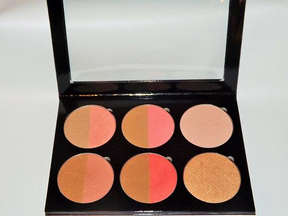 Bronzer/Blush/Highlighting Refillable Palette