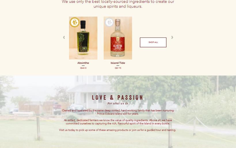 Deep Roots Distillery Website