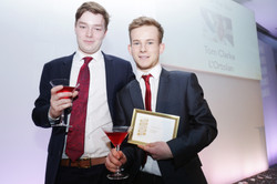 Tom Clarke chef of Year  two of his team Simon Brailli and Oliver James