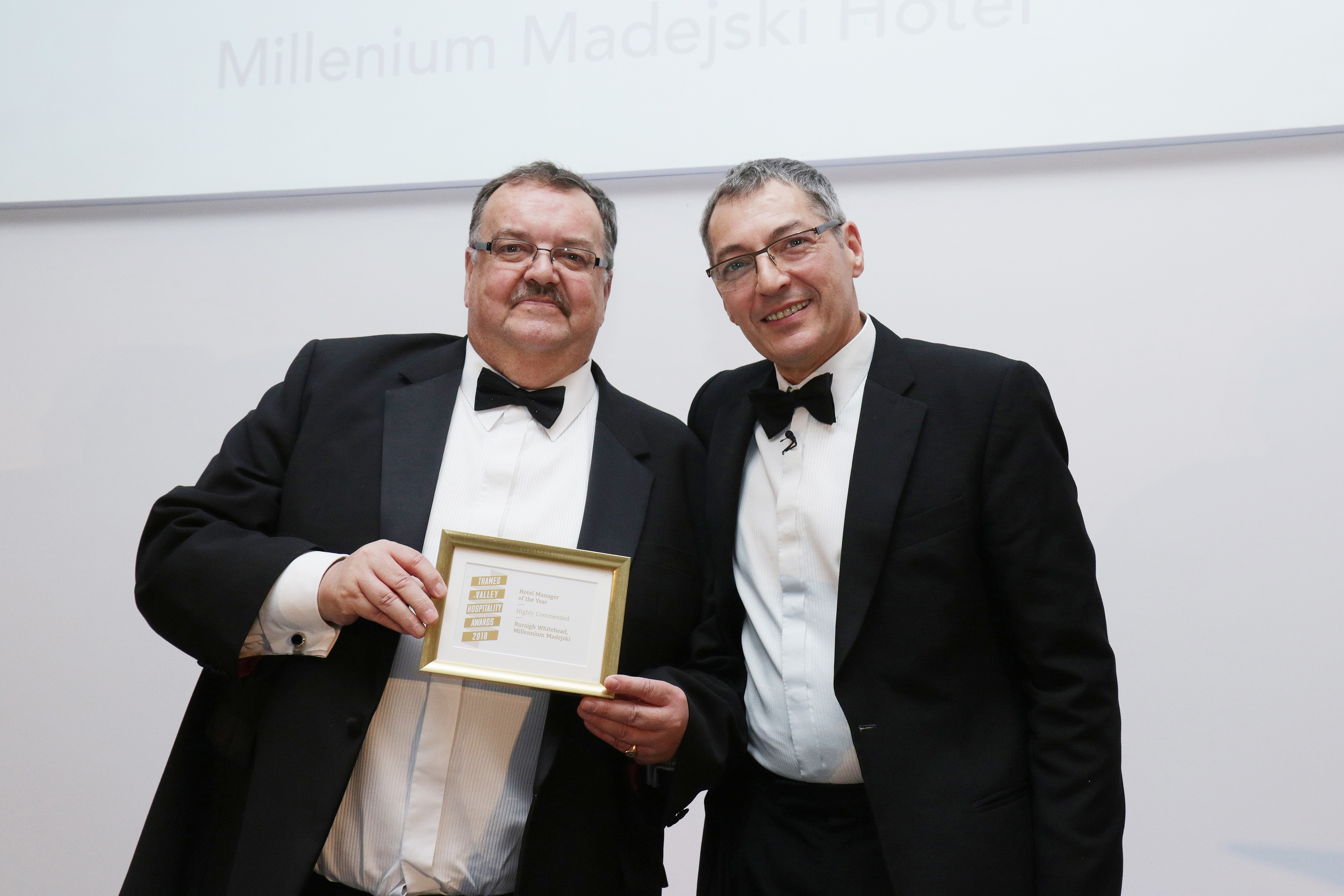 Ruraigh Whitehead of the Millennium Madejski Hotel is Highly Commended in Hotel Manager of the Year