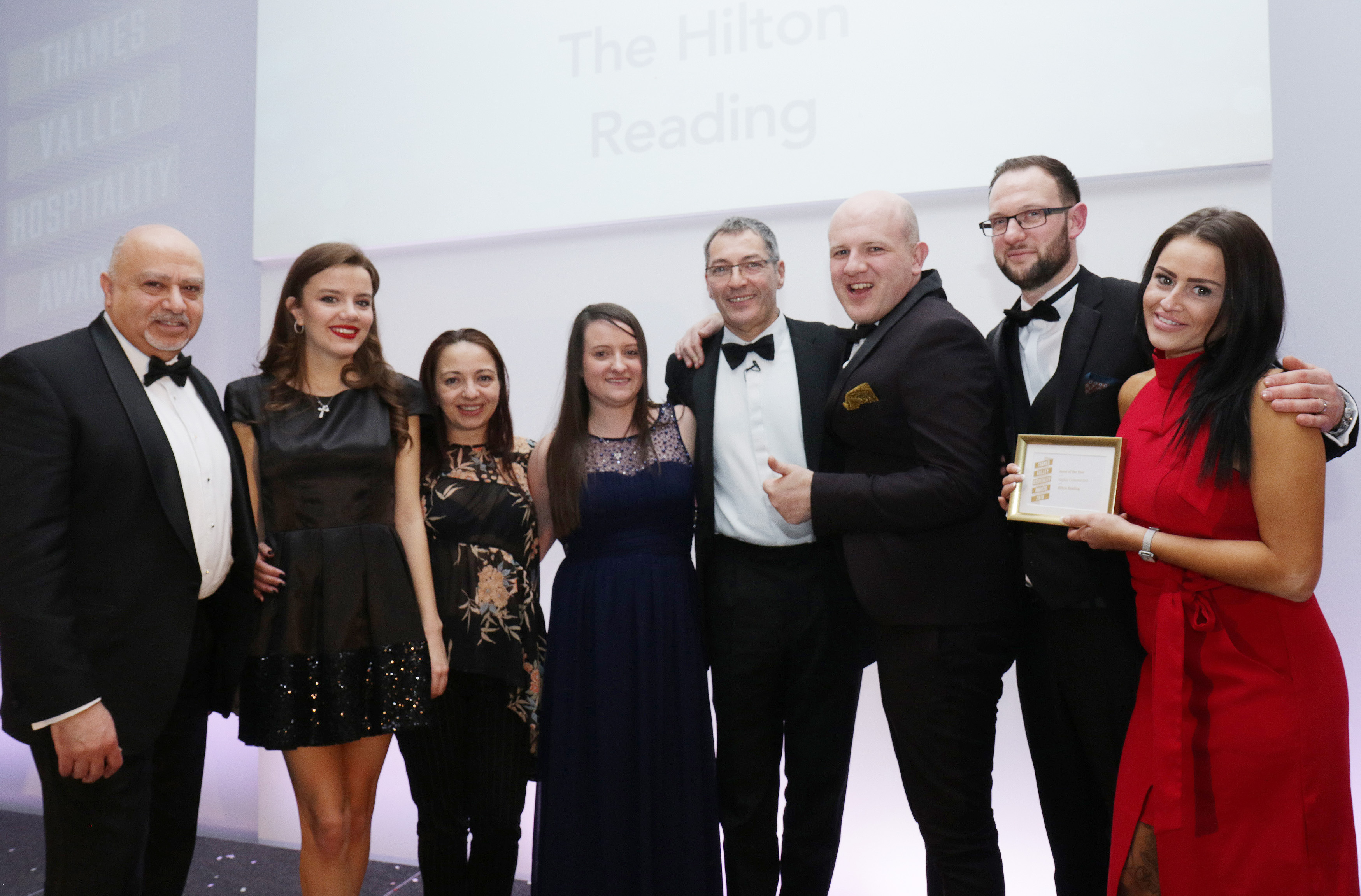 Hilton Reading team with their Highly commended in Hotel of Year