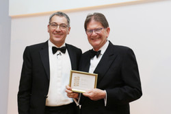 Sir John Madejski picks up Trunkwell Manor's bronze for Independent Hotel of Year