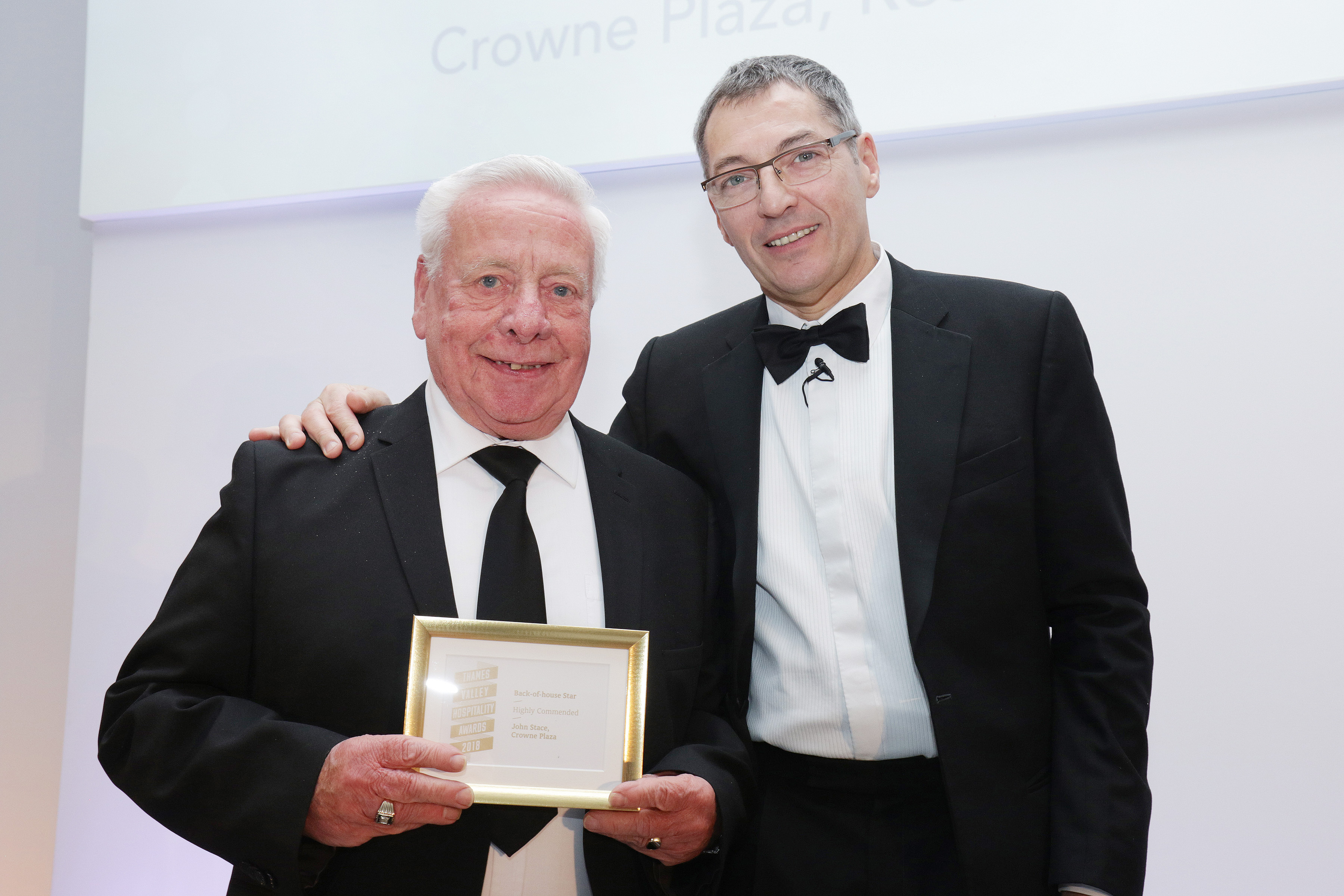 John Stace of Crowne Plaza wins bronze in Front f House star