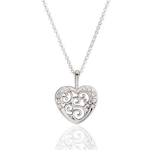Veronica eckert studio jewelry filigree heart pendant filigree heart pendant aloadofball Choice Image