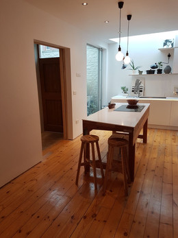 Contemporary Open-plan Kitchen and Dining Room in Montpelier, Bristol
