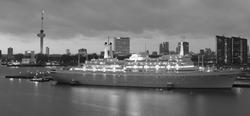 SS Rotterdam zwart wit