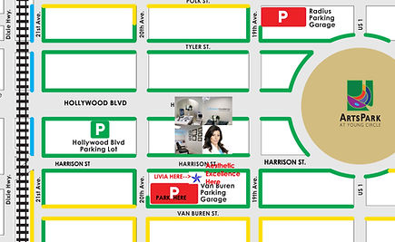 photo courtesy of Hollywood CRA division for assistance to businesses in the downtown Hollywood, FL district with modification for Livia's business location related to available parking for her clients.