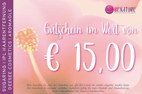 WERTGUTSCHEIN 15 €