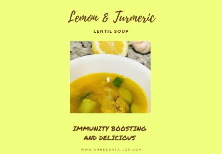Lemon Turmeric Lentil Soup