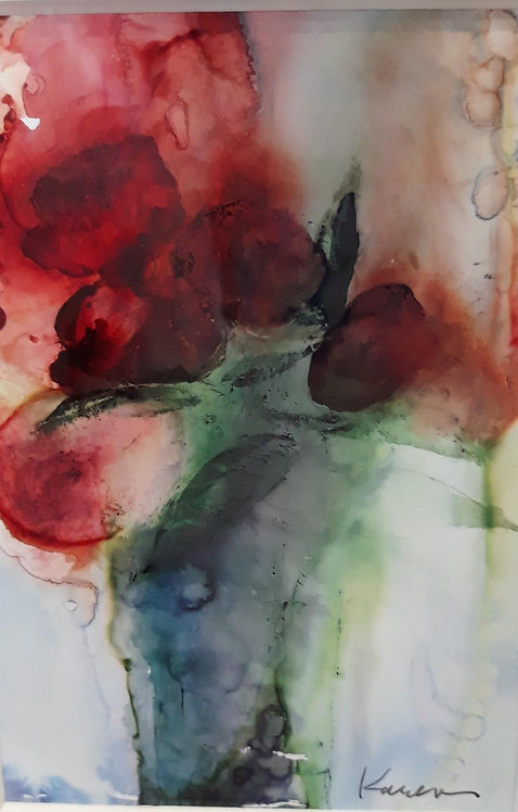 An Impression of a Vase of Roses