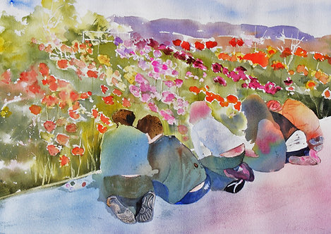 Poppies and Little Painters in Paris
