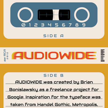 Audiowide Typography Biography