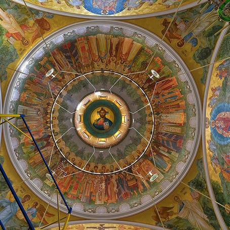 Интерьер храма Новомучеников и исповедников Церкви Русской на Лубянке