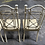 Thumbnail: Metal Faux Bamboo Patio Dining Chairs- Set of 4