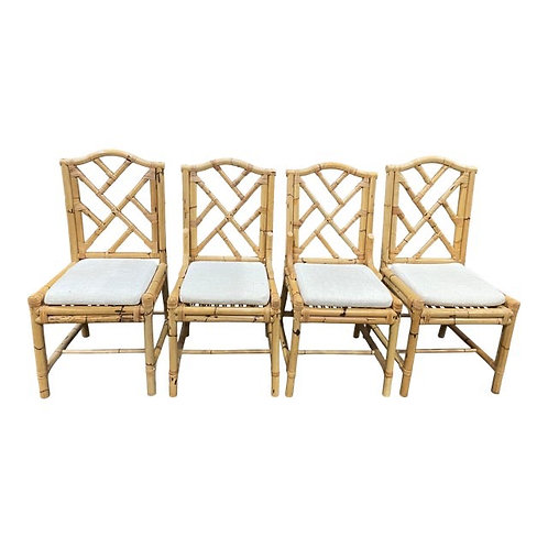 Mid 20th Century Chinese Chippendale Dining Chairs