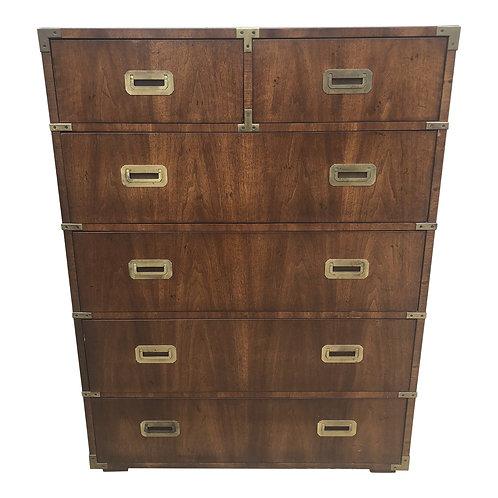 Henredon Campaign Style Highboy Dresser