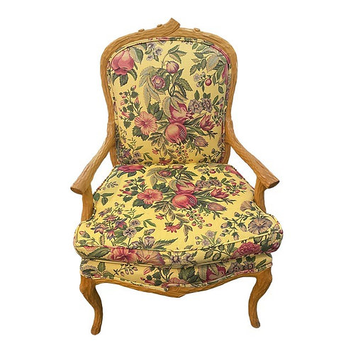 Late 20th Century Upholstered Bergere Accent Chair