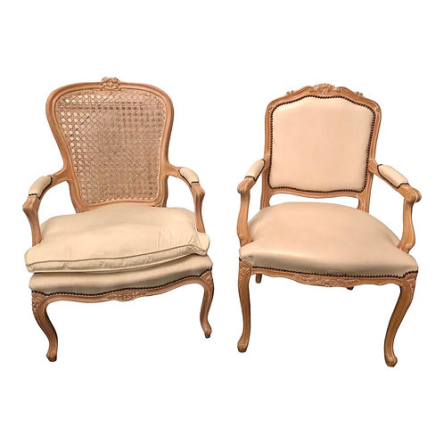 Late 20th Century Louis XV Style Armchairs -A Pair